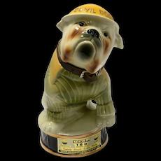Vintage Devil Dogs Jim Beam Bulldog Whiskey Decanter 1979