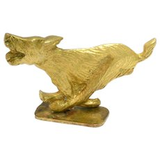 Vintage Brass Running Dog Bottle Opener