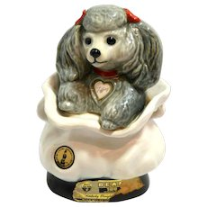 "Vintage ""Tiffiny"" Poodle Decanter Jim Beam c.1977"