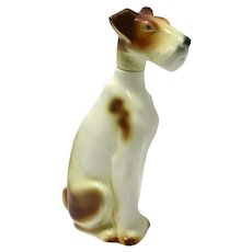 Rare Vintage Goebel Fox Terrier Dog Decanter c.1923