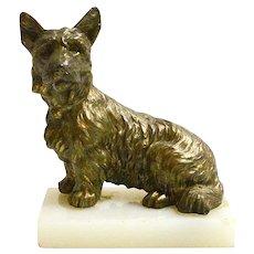Vintage Bronze Scottish Terrier Dog c. 1950's