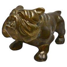 Vintage Brass Bulldog Dog Figurine Paperweight