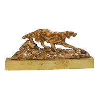 Vintage Brass Sporting Dogs, Brass Fire Dogs, Brass Mantel Dog Pair, Dog Lovers Gift