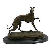 P.J. Mene Bronze Greyhound c. late-1800's