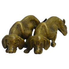 Miniature Bronze Sporting Dog Pair