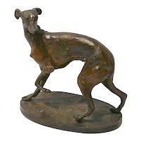 Pierre Jules Mene Animalier Bronze Sculpture of Greyhound/Whippet Dog