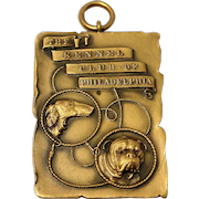 Vintage Gilded Bronze Kennel Club of Philadelphia Medal Pendant