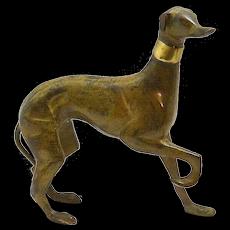 Mid Century Modern Bronze Greyhound Figurine c. 1960's