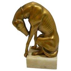 Art Deco Bronze Greyhound c.1920's
