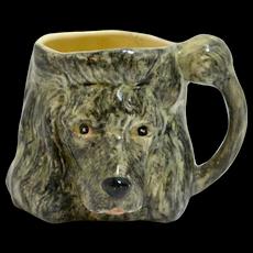 English Hand-Painted Porcelain Children's Poodle Head Cup c.1940's.