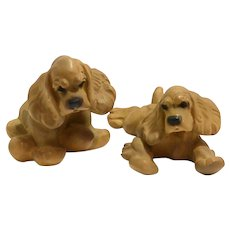 Vintage Jan Allan Cocker Spaniel Pair c.1939-1947