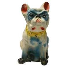 Vintage Chalkware Boston Terrier Dog c.1930's