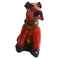 Vintage Chalkware Schnauzer Dog Bank