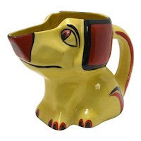 Rare Ditmar Urbach Hand Painted Dog Pitcher c.1930's