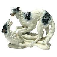 Rosenthal Art Deco F.Heidenreich Borzoi Dogs Figurine