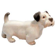 Dahl Jensen Sealyham Terrier Dog #1002 c. pre-1928