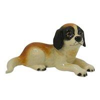 Goebel Saint Bernard Reclining Puppy Dog Figurine 1979-1990