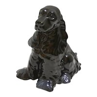 Vintage Royal Haeger Black Cocker Spaniel