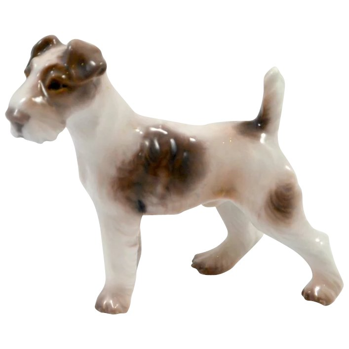 Dahl Jensen Wire Haired Fox Terrier Mint : A Dog\'s Tale Collectibles ...