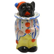 "Scottish Terrier Jar Porcelain ""Singing Clown"""