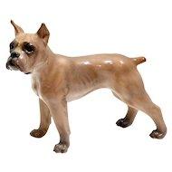 Vintage Porcelain Dahl-Jensen Boxer Dog #1170