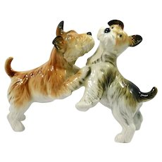 Vintage Karl Ens Porcelain Fox Terrier Dog Pair