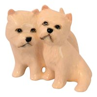 Vintage Beswick West Highland Terrier Dog Pair