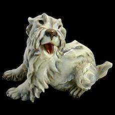 Cacciapuoti Porcelain Maltese Dog Figurine Signed