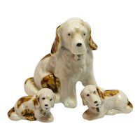 Porcelain Spaniel Mom with Pups Unmarked