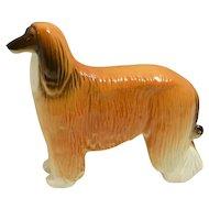 Porcelain Afghan Hound Dog Figurine Russian Lomonosov c.1950's