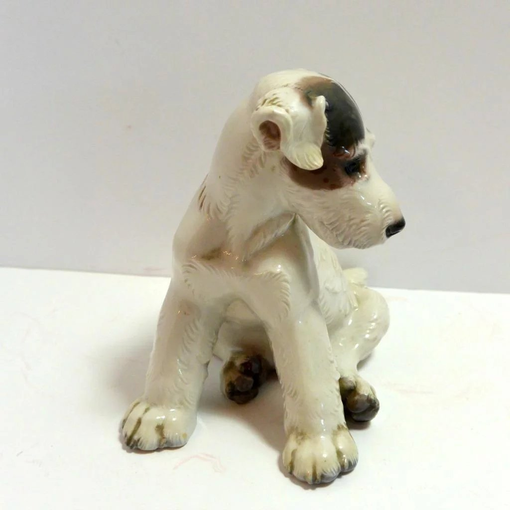 Wire-Haired Fox Terrier Puppy Prof. T. Karner Germany c.1940\'s : A ...