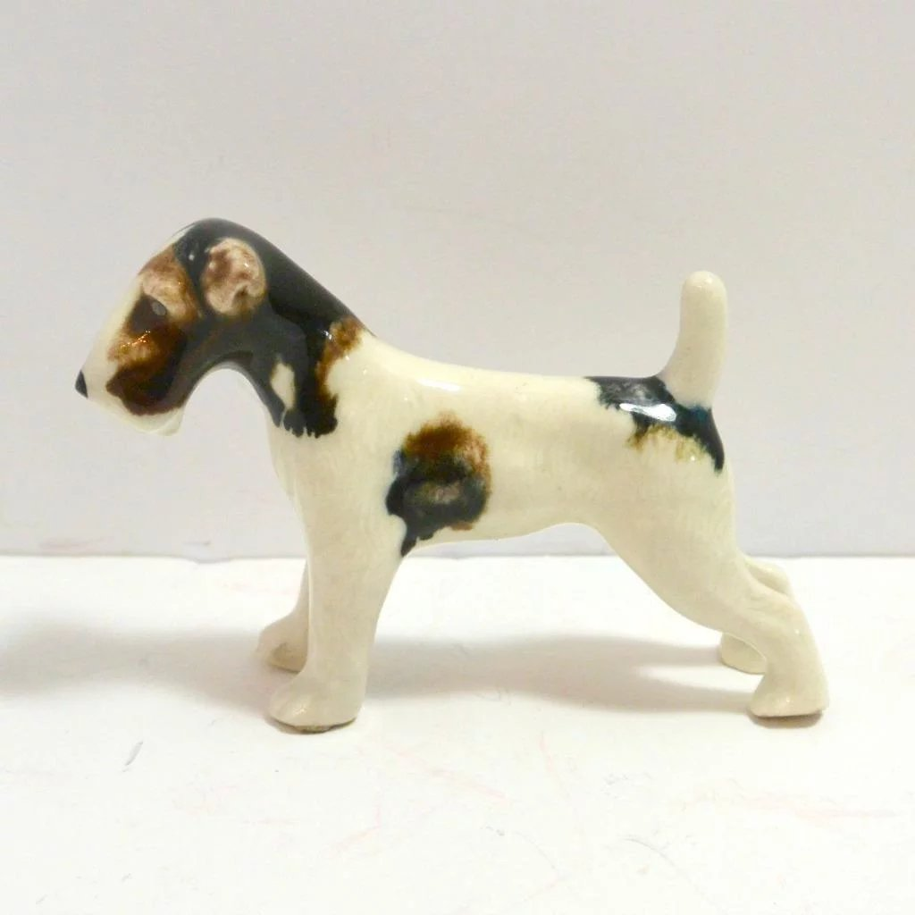Vintage Grindley Ware Pair of Wire-Haired Fox Terriers c. 1932-1952 ...
