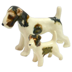 Vintage Grindley Ware Pair of Wire-Haired Fox Terriers c. 1932-1952