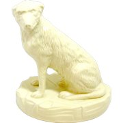 White Belleek Irish Wolfhound Dog Collectors Society Limited Edition