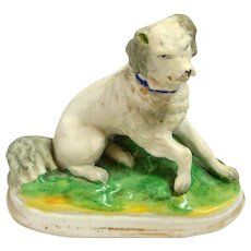 Antique Staffordshire Spaniel Dog Figurine c.1850