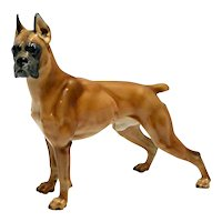 Rosenthal Standing Boxer Dog T. Karner c. 1950's