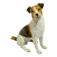 Dresden Fox Terrier Jack Russell  Figurine Germany