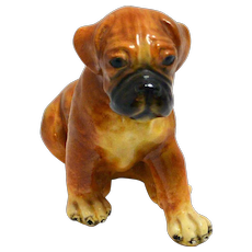 Morten's Studio Boxer Puppy Figurine