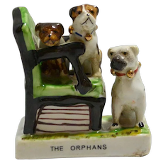 Conte & Boehme Pug Dog Fairing - The Orphans -early 1900's