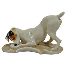 Nymphenburg Porcelain Fox Terrier Dog Figurine T. Karner