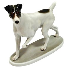 Rosenthal Smooth Fox Terrier Porcelain Figurine MINT