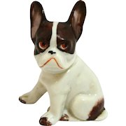 Boston Terrier Dog German Porcelain Figurine