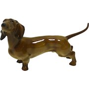 Hutschenreuther Standing Dachshund Figurine Germany c. 1970-1985