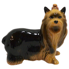 Porcelain Yorkshire Terrier Dog Figurine Coopercraft c. 1960's