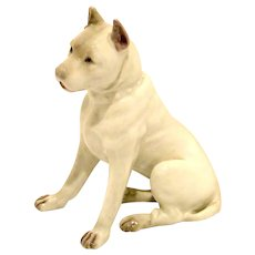 Vintage G. Heubach Staffordshire Terrier Dog Germany c.1882 - 1930's