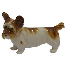 Antique Porcelain Skye Terrier Dog Figurine Germany c. 1910 - 1920