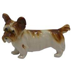 Antique Porcelain Skye Terrier Dog Figurine Germany c. 1910 - 1920