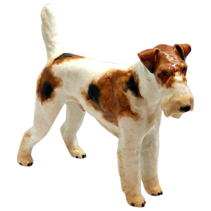 Large Rosenthal Wire-Haired Fox Terrier Figurine c.1935 : A Dog\'s ...