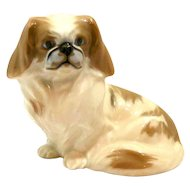 Royal Copenhagen Pekingese Dog Figurine Peter Herold c. 1897 - 1950's