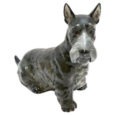 Rare Rosenthal Scottish Terrier Dog Signed M H Fritz c.1941